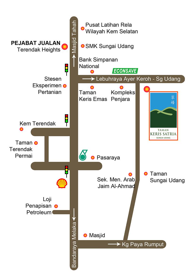 SemiD, Taman Keris Satria, Sg Udang, Melaka